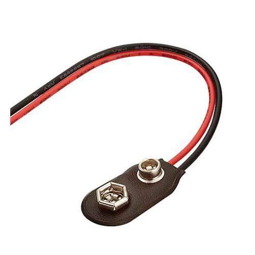 Clip para Bateria 9v de Capa de Proteção em Couro - Pacote com 10 Peças