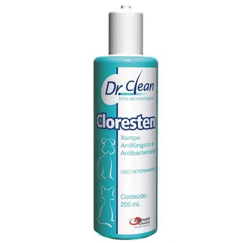 Cloresten 200 Ml Dr.Clean Shampoo Antibacteriano para Cães e Gatos Agener