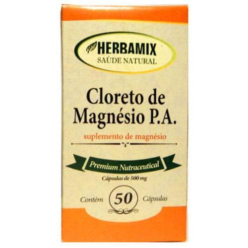 Cloreto de Magnésio 500mg 50 Cápsulas