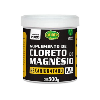 Cloreto de Magnésio Hexahidratado P.A Unilife 500g em Pó