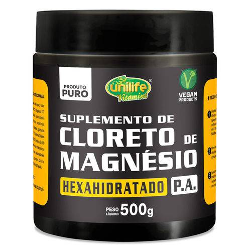 Cloreto de Magnésio P.a 500g - Unilife