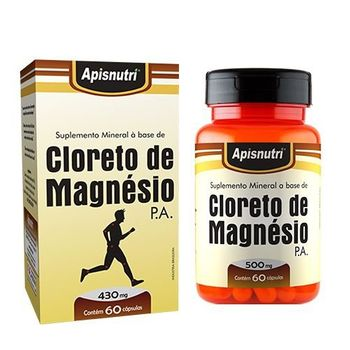 Cloreto de Magnésio P.A Apisnutri 60 Cápsulas