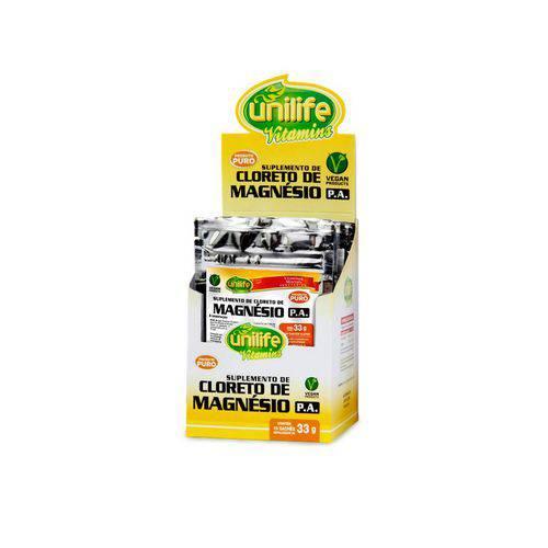 Cloreto de Magnésio P.A Puro Sachê - Unilife - 10 Unidades de 33g