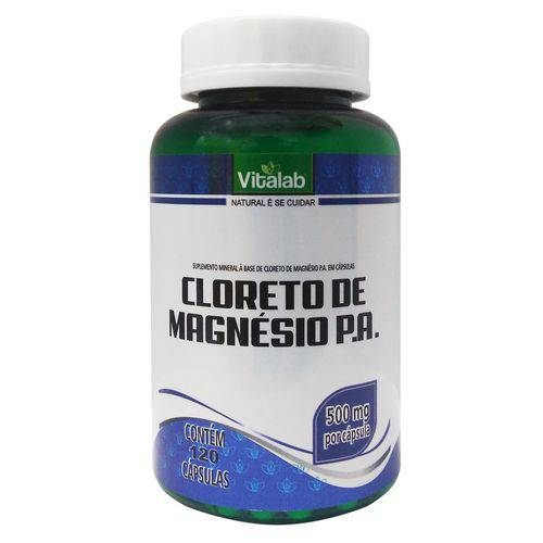 Cloreto de Magnésio Pa Vitalab 500mg - 120 Cápsulas