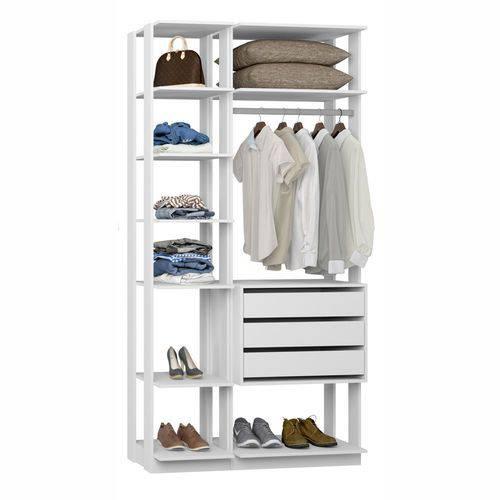 Closet Componível Completo 2 Peças 1,11m 9004 Clothes Be Mobiliário
