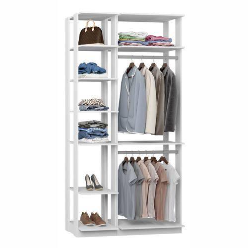 Closet Componível Completo 2 Peças 1,11m 9005 Clothes Be Mobiliário