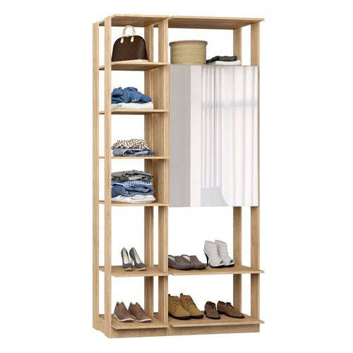 Closet Componível Completo 2 Peças 1,11m 9007 Clothes Be Mobiliário