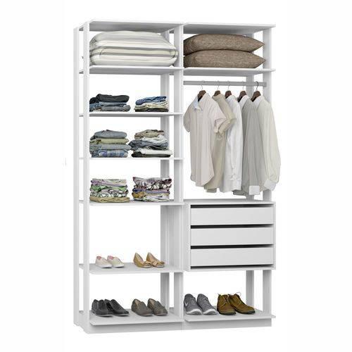 Closet Componível Completo 2 Peças 1,40m 9008 Clothes Be Mobiliário