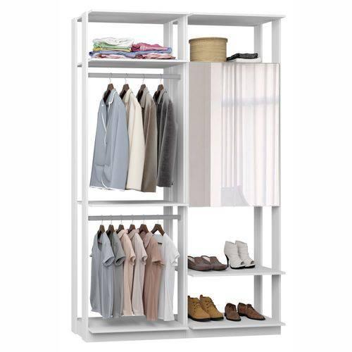 Closet Componível Completo 2 Peças 1,40m 9015 Clothes Be Mobiliário