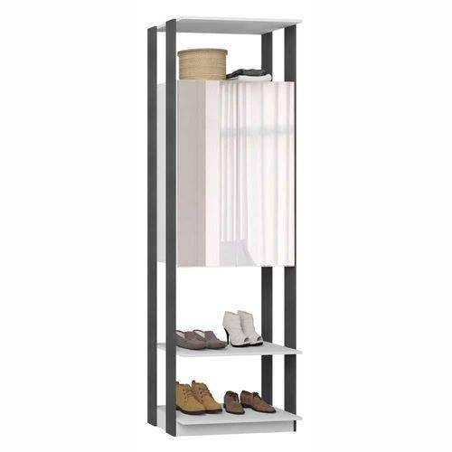 Closet Componível 2 Portas com Espelho 70cm 1007 Clothes BE Móveis