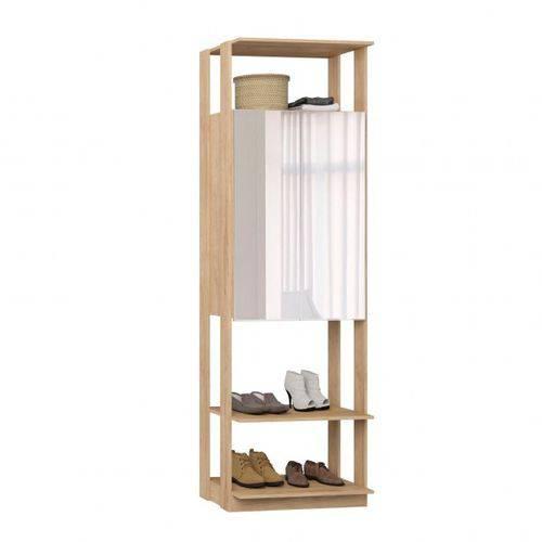 Closet Estante Armário com Espelho-carvalho Mel - Be Mobiliário