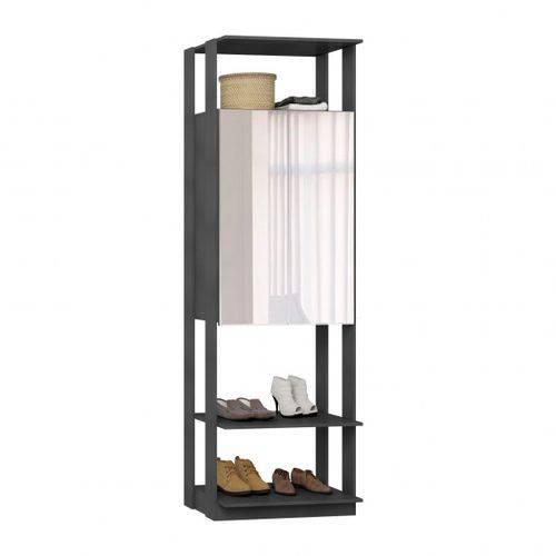 Closet Estante Armário com Espelho-espresso - Be Mobiliário