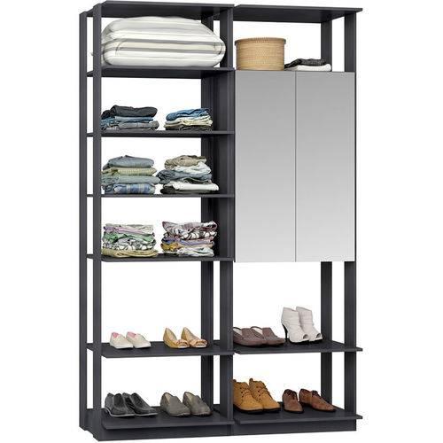 Closet Modulado 1 Armário C/ Espelho Clothes 9012 – Be Mobiliário - Espresso