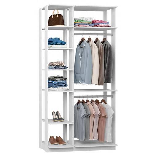 Closet Modulado C/ 2 Cabideiros Clothes 9005 - Be Mobiliário - Branco