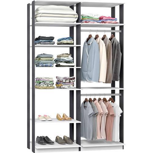 Closet Modulado C/ 2 Cabideiros Clothes 9010 – Be Mobiliário - Branco / Espress