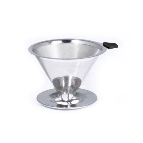 Coador de Café Pour Over em Aço Inox 18/10 - Bialetti - Italia - Sem Uso Papel