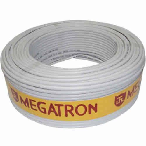 Coaxial Rg 59 47% Branco Rolo 100m Megatron
