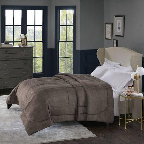 Cobertor Alaska Queen Arquimedes Taupe - 100% Poliéster - Home Design - Corttex