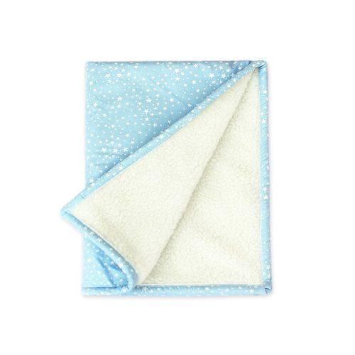 Cobertor Bebê Estrelinhas Azul