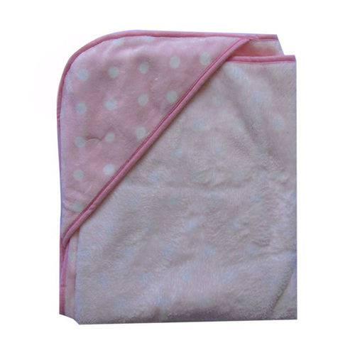 Cobertor Bebê Menina Jolitex em Relevo com Capuz