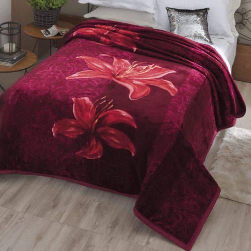 Cobertor Casal Dyuri Angresse 1 Peça Microfibra Jolitex Vinho