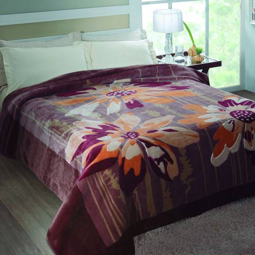 Cobertor Casal Raschel Caixa 2,20x2,40m Jolitex