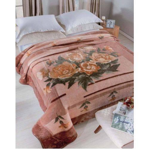 Cobertor Casal Raschel Estampado 1,80 X 2,20 Allegro Jolitex