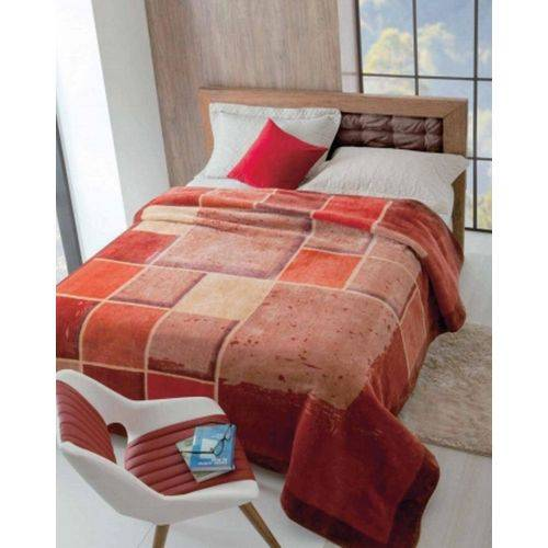 Cobertor Casal Raschel Estampado 1,80 X 2,20 Iluminato Jolitex