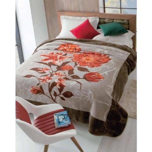 Cobertor Casal Raschel Estampado 1,80 X 2,20 Renascensse Jolitex