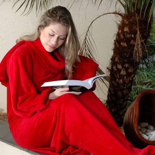 Cobertor com Mangas Tamanho Único Vermelho Zona Criativa