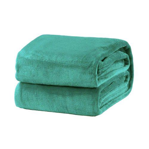Cobertor em Microfibra Domani Velour Solteiro Piscina