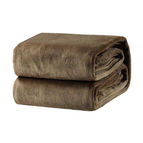 Cobertor em Microfibra Domani Velour King Marrom