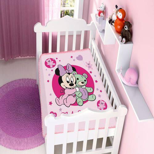 Cobertor Infantil Disney Baby Raschel Minnie Ursinho/rosa - Jolitex