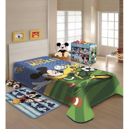 Cobertor Infantil Menino Jolitex Disney Team Mickey Futebol