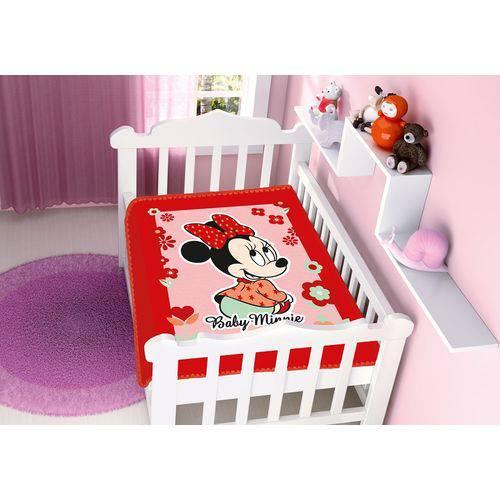 Cobertor Infantil Raschel Disney Baby Minnie Florzinhas 100% Poliéster – Jolitex