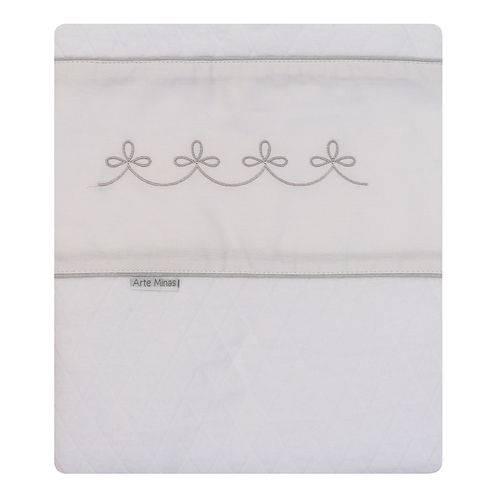 Cobertor Italia Branco e Cinza