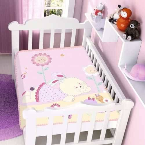 Cobertor Jolitex Infantil Berço Bebê Raschel Conversa Jardim