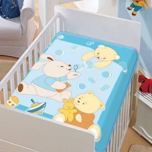Cobertor Jolitex Infantil Berço Bebê Tradicional Bolinhas