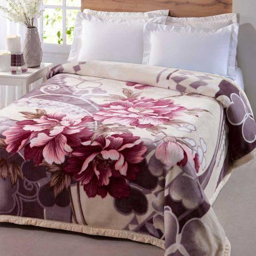 Cobertor Jolitex King Dupla Face 2,20 X 2,40m Crisantemo