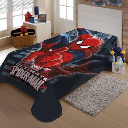 Cobertor Jolitex Solteiro Raschel Macio Homem Aranha Marvel