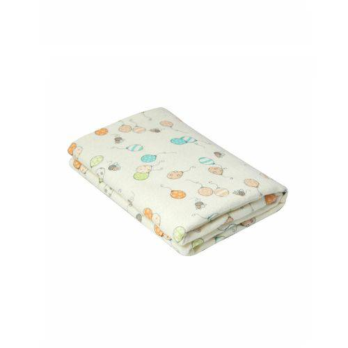 Cobertor Karinho 100% Algodão 110cm X 90cm Abelhinha