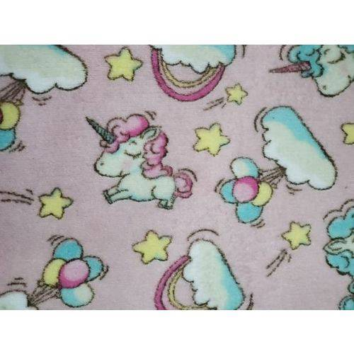 Manta Cobertor Bebe Microfibra 90 X 110 Cm Unicórnio