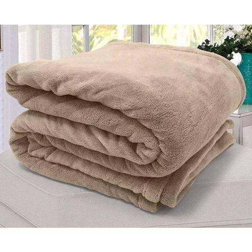 Cobertor Manta Microfibra Solteiro Camurça 140 X 220 Cm