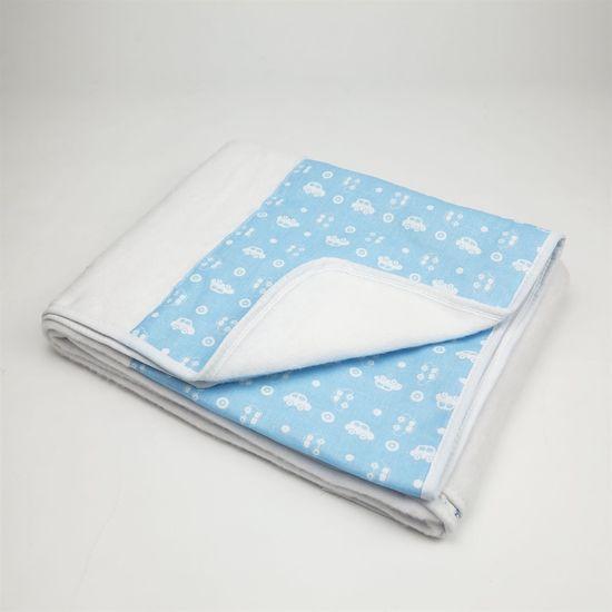 Cobertor Masculino Branco e Azul Claro Carrinho