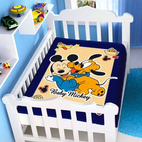 Cobertor Menino Disney Baby Mickey e Pluto Jolitex
