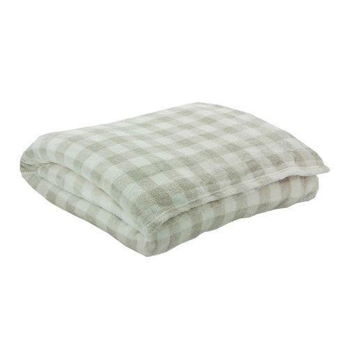 Cobertor Metropole Checks Bege - Solteiro