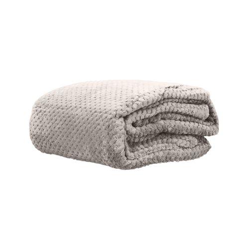 Cobertor Microfibra Mini Domani Jacquard Areia Solteiro