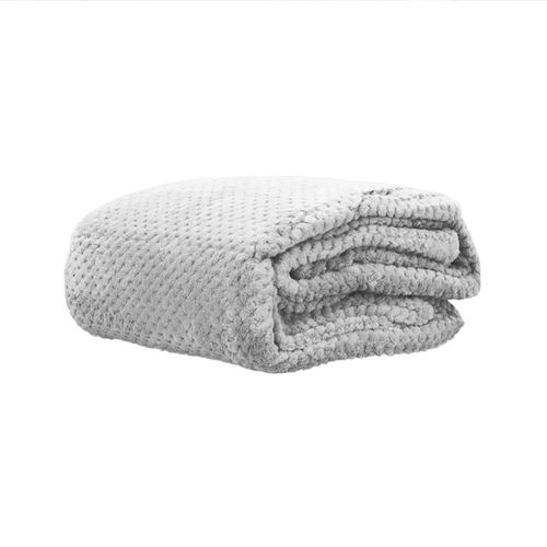 Cobertor Microfibra Mini Domani Jacquard Prata Solteiro