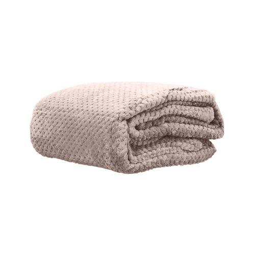 Cobertor Microfibra Mini Domani Jacquard Rose Solteiro