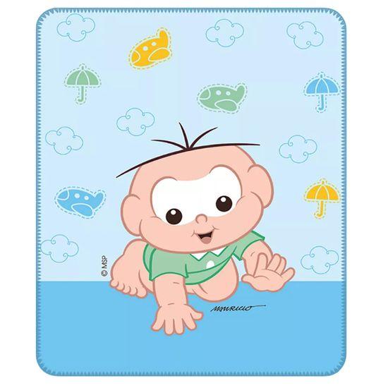 Cobertor para Bebê Masculino com Estampa Localizada Cebolinha